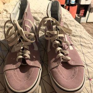 Lavender Vans high tops